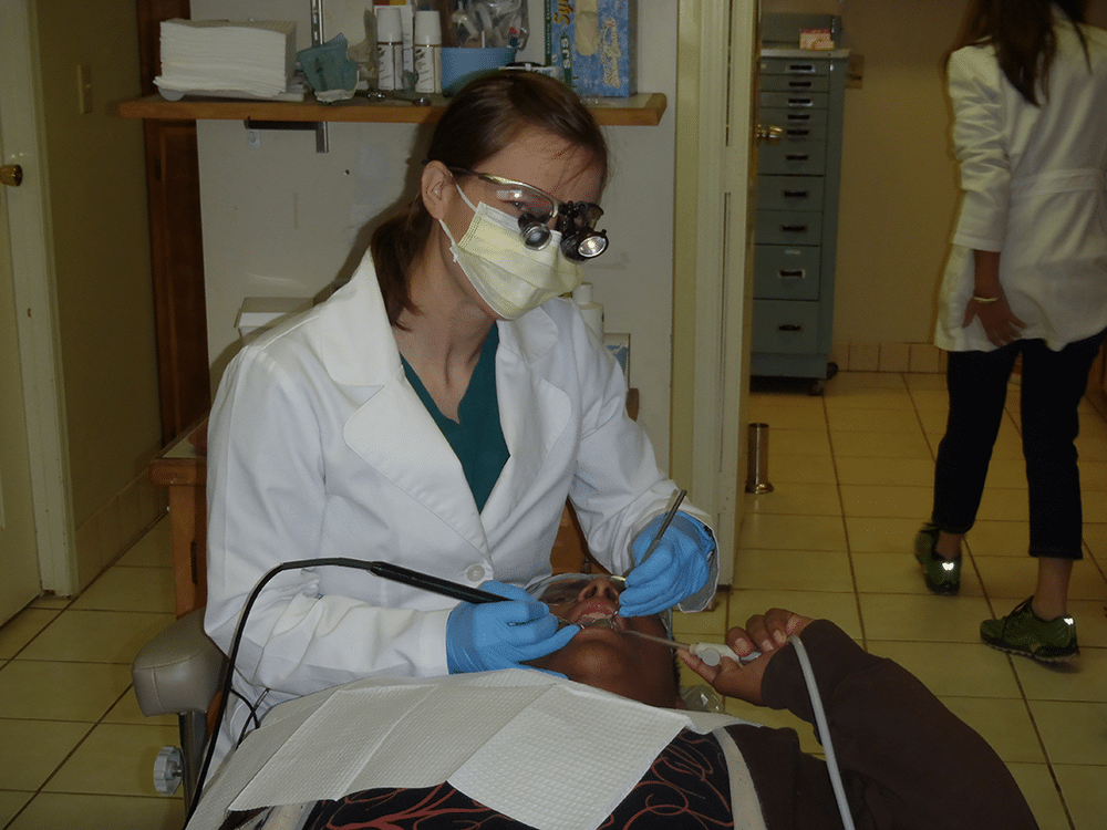 dental work on patient
