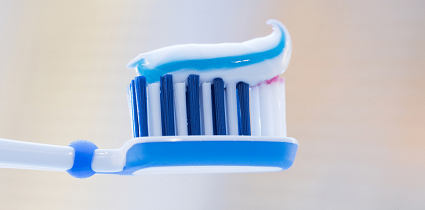 A toothbrush with tooth paste can help stave off gum disease
