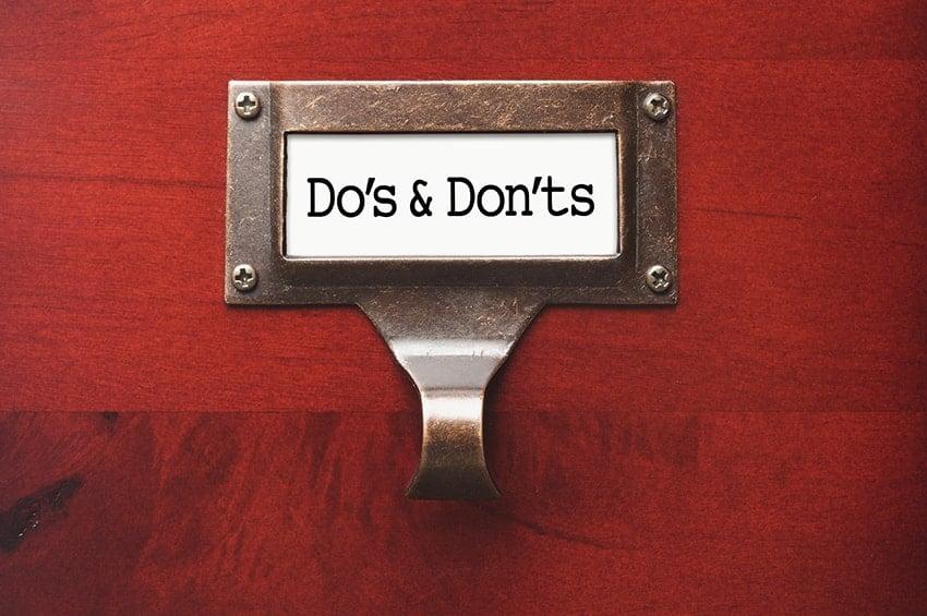 TMJ Do's & Don'ts | TMJ Anchorage