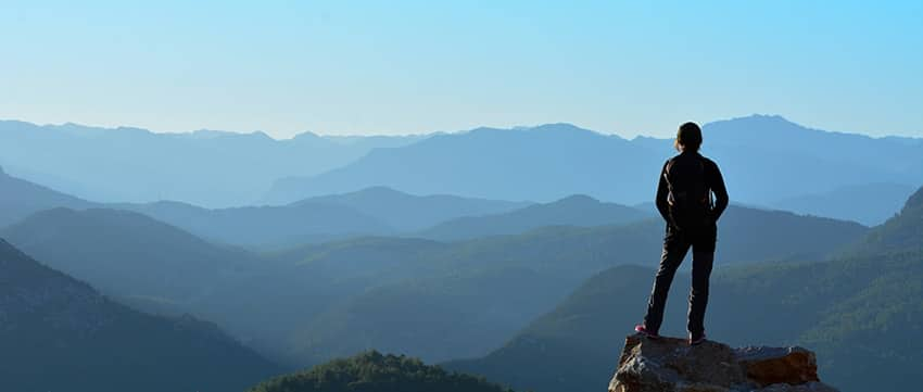 A woman looking out upon the horizon. Is she looking for the new TMJ treatments or just the view?